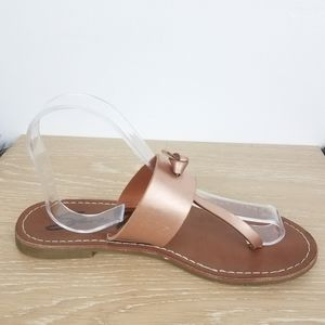 7 for all Mankind | Rose Gold Thong Sandals Flats